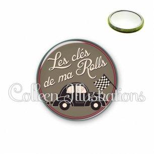Miroir 56mm Les clés de ma rolls (032MAR01)