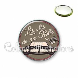 Miroir 56mm Les clés de ma rolls (032MAR02)