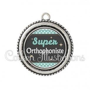 Pendentif résine Super orthophoniste (019BLE03)