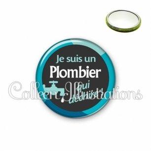 Miroir 56mm Plombier qui déchire (034BLE02)