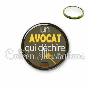 Miroir 56mm Avocat qui déchire (035MAR01)