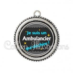 Pendentif résine Ambulancier qui déchire (019GRI01)