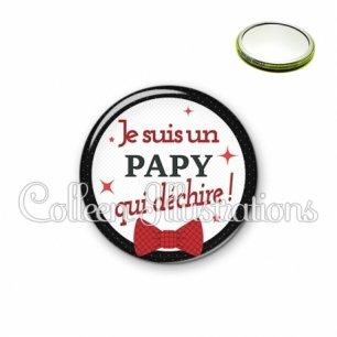 Miroir 56mm Papy qui déchire (036NOI01)