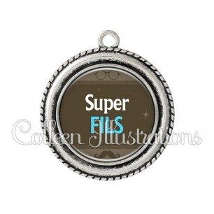 Pendentif résine Super fils (019MAR01)