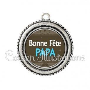 Pendentif résine Bonne fête papa (019MAR01)