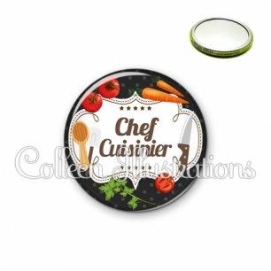 Miroir 56mm Chef cuisinier (045NOI04)