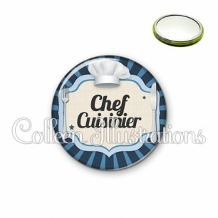Miroir 56mm Chef cuisinier (048BLE01)
