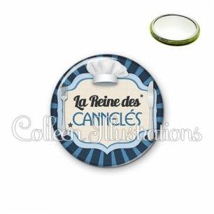Miroir 56mm La reine des cannelés (048BLE01)