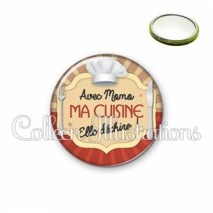 Miroir 56mm Avec momo ma cuisine elle déchire (048MAR01)