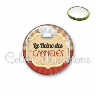 Miroir 56mm La reine des cannelés (048MAR01)