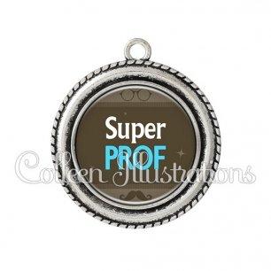 Pendentif résine Super prof (019MAR01)