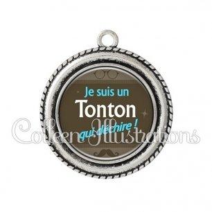 Pendentif résine Tonton déchire (019MAR01)