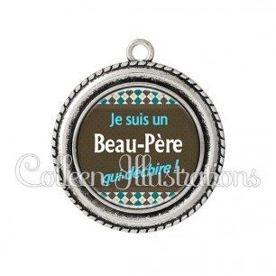 Pendentif résine Beau-papa qui déchire (019MUL01)