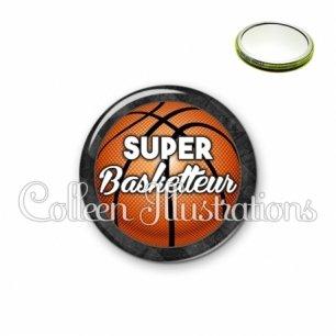 Miroir 56mm Super basketteur (062GRI01)