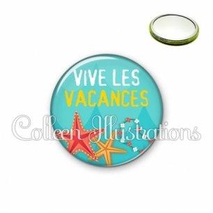 Miroir 56mm Vive les vacances (069BLE01)