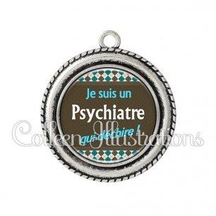 Pendentif résine Psychiatre qui déchire (019MUL01)
