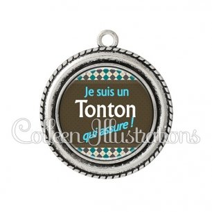 Pendentif résine Tonton qui assure (019MUL01)