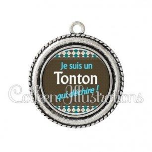Pendentif résine Tonton qui déchire (019MUL01)