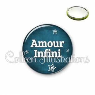 Miroir 56mm Amour infini (079BLE01)