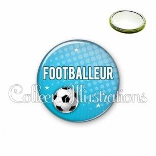 Miroir 56mm Footballeur (082BLE02)