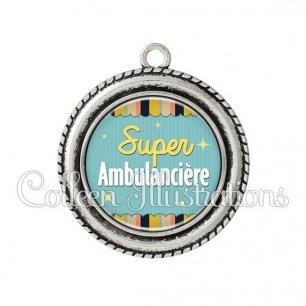 Pendentif résine Super ambulancière (019MUL05)