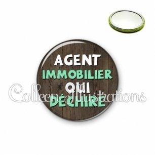Miroir 56mm Agent immobilier qui déchire (086MAR01)