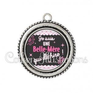 Pendentif résine Belle-mère qui déchire (019ROS01)
