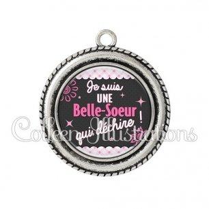 Pendentif résine Belle-sœur qui déchire (019ROS01)