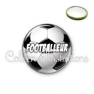 Miroir 56mm Footballeur (089MUL01)