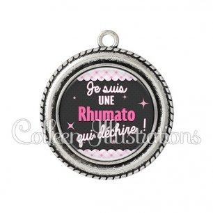 Pendentif résine Rhumato qui déchire (019ROS01)