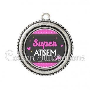 Pendentif résine Super ATSEM (019ROS02)