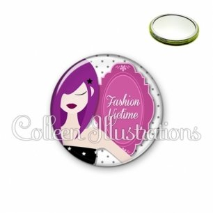 Miroir 56mm Fashion victime (110BLA01)