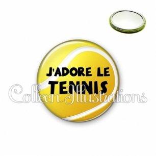 Miroir 56mm J'adore le tennis (130JAU01)