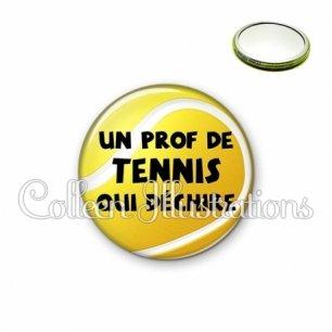 Miroir 56mm Prof de tennis qui déchire (130JAU01)