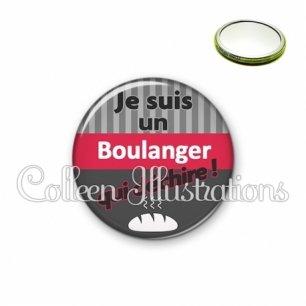 Miroir 56mm Boulanger qui déchire (132GRI01)