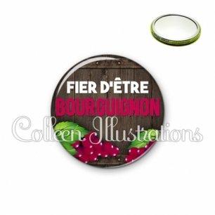 Miroir 56mm Fier d'être bourguignon (137MAR04)