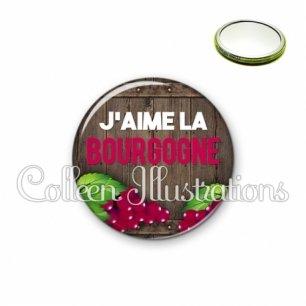 Miroir 56mm J'aime la bourgogne (137MAR04)