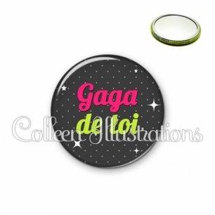 Miroir 56mm Gaga de toi (157GRI02)