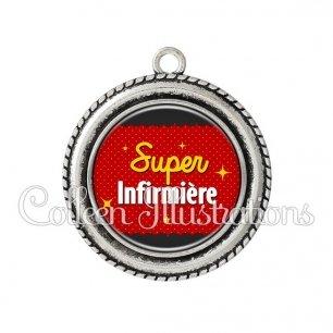 Pendentif résine Super infirmière (019ROU01)