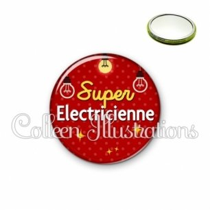 Miroir 56mm Super électricienne (159ROU01)