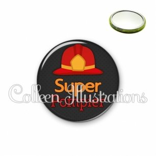 Miroir 56mm Super pompier (160GRI01)