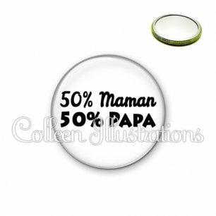 Miroir 56mm 50% maman 50% papa (181BLA11)