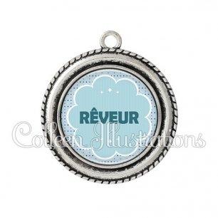 Pendentif résine Rêveur (020BLE02)