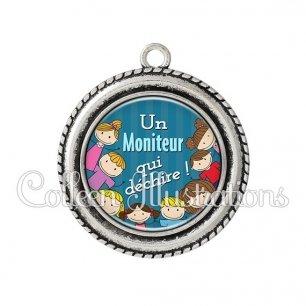 Pendentif résine Moniteur qui déchire (022BLE02)