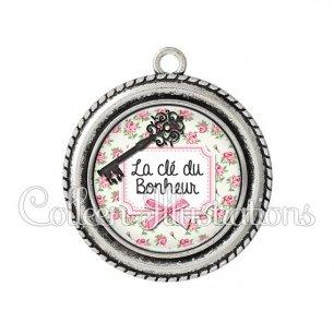 Pendentif résine Clé du bonheur (023MUL01)