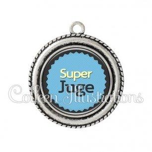 Pendentif résine Super juge (024BLE01)