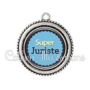 Pendentif résine Super juriste (024BLE01)