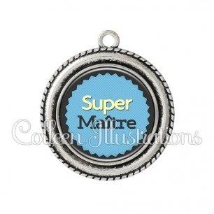 Pendentif résine Super maître (024BLE01)