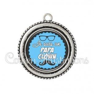 Pendentif résine Papa clown (024BLE05)