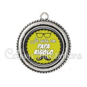 Pendentif résine Papa rigolo (024VER02)